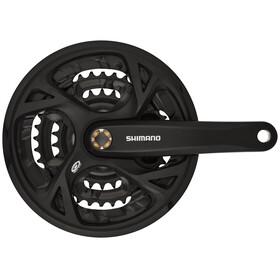 Shimano FC-M371 kampi Trekking Neliö 9-vaihteinen 48-36-26 hammasta , musta